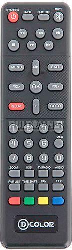 DC802HD пульт для DVB-T2-ресивера D-Color (вариант 1)