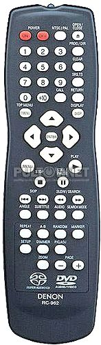 RC-934, RC-962, RC-553 пульт для DVD-плеера Denon DVD-2900 и др.