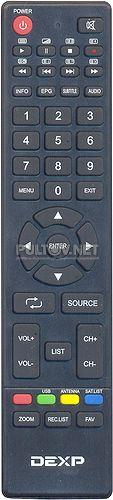 24A7000 (вар. 3) пульт для телевизоров DEXP 24A7000, F24B7000C, 50A7100  и других