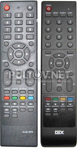 DEX D-LE-1970 пульт для телевизора DEX LT-3240 и др.