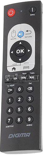 HDMP-605 пульт для медиаплеера DIGMA