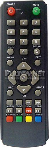 HOBBIT IRON BOX II пульт для DVB-T2-ресивера (вариант 2)