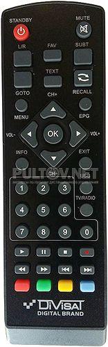 HOBBIT IRON BOX II пульт для DVB-T2-ресивера (вариант 1)
