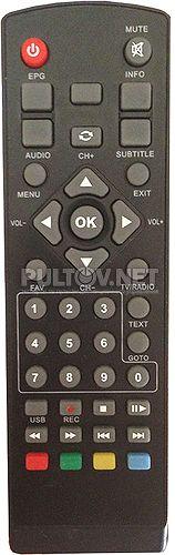 #0195 пульт для китайского DVB-T2-ресивера Orion + RS-T20 HD