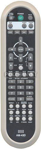 AM-43D пульт для домашнего кинотеатра DAEWOO