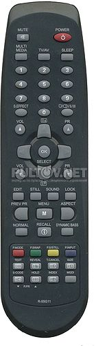 R-55G11 , R-55G10, BLAUREN R-55G10 неоригинальный пульт ДУ для телевизора