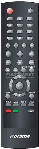 HDMP-302 пульт для медиаплеера Digma