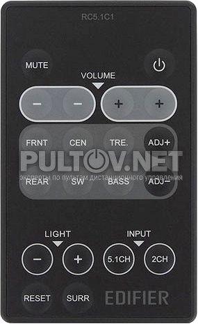 RC5.1C1, RC5.1C пульт для акустической системы Edifier S550