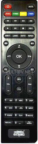 ELECTRONICS VV8903HD пульт для DVB-T2-приёмника