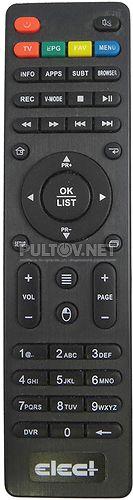 Elect EDR-7916 пульт для DVB-T2 ресивера