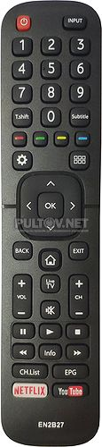 EN2B27, EN2B27D, DEXP EN2B27D, RC3394402/01 неоригинальный пульт для телевизора Dexp F40C8000H и др.