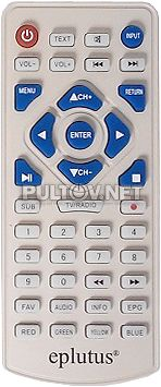 KR-49 пульт для портативного телевизора Eplutus EP-9511 и др. (вариант 2)