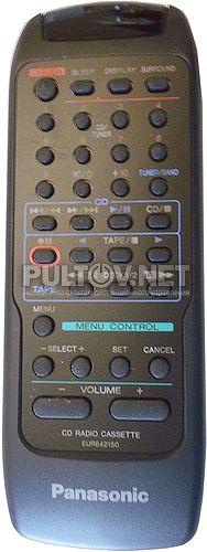 EUR642150 пульт для магнитолы Panasonic RX-DT501