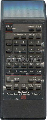 EUR64712, EUR64713 пульт для CD-плеера Technics SL-P770