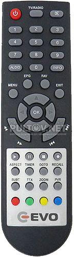 EVOT2 101 пульт для DVB-T2-ресивера EVO