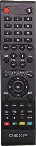 F32C7100B/W, F32B7000B пульт для телевизора DEXP