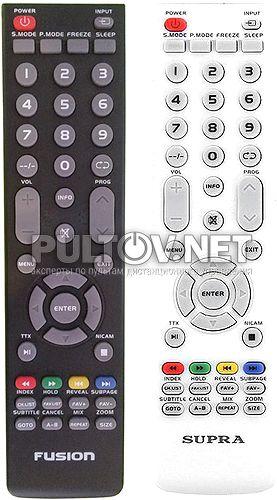 T32ED07U-01B, DNS K19A509, FUSION FLTV-28K62, SUPRA J-1274 пульт для телевизора