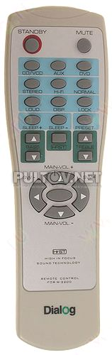 remote control for W-3200 пульт для акустики DIALOG