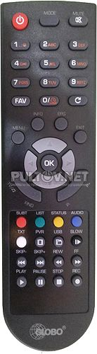 GLOBO E-RCU-012 пульт для DVB-T2-ресивера GLOBO GL100