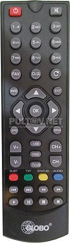 Пульт GLOBO E-RCU-018 пульт для DVB-T2-ресивера GLOBO GL60