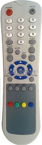 DV-698, GLOBO RC-6000, Star track 550D пульт для спутникового ресивера GLOBO 6000