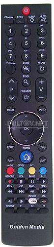HOF11J305GPD12 пульт для HD-ресивера Golden Media Spark Reloaded