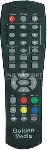 t-box 815 PVR пульт для цифрового ресивера Golden Media