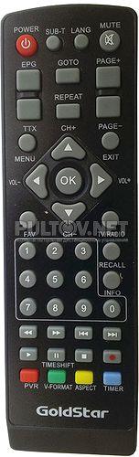Gold Star GS8833HD пульт для цифровой эфирной DVB-T2-приставки Gold Star
