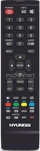 JKT-62C пульт для телевизора HYUNDAI H-LED32V9