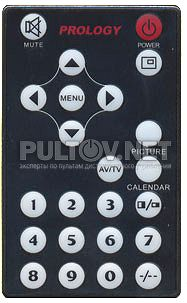 RE-25LL пульт для переносного телевизора PROLOGY HDTV-800S