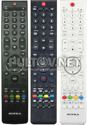 STV-LC1955WL, CHANGHONG HOF-55D1 пульт для телевизора SUPRA и CHANGHONG