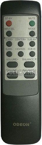 AV-100 (вариант пульта № 2, модель HOF04C133D6 ) пульт для акустики ODEON