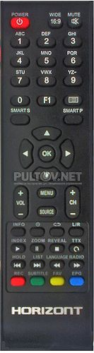 RC-E23 (модель #0133), Fusion, Erisson пульт для телевизора HORIZONT 32LE4122D и других