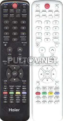 HTR-D18, HTR-D18A, HAIER HTR-D3D неоригинальный пульт для телевизора POLAR 81LTV3103, Haier LE22Z6, AKAI LEA-19H03P и др.