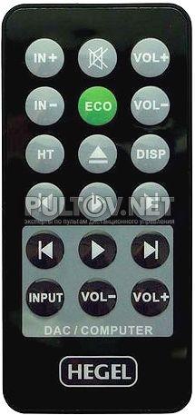 Hegel HD12 пульт для внешнего ЦАП