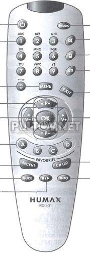 RS-401 пульт для спутникового ресивера Humax F2-Finder