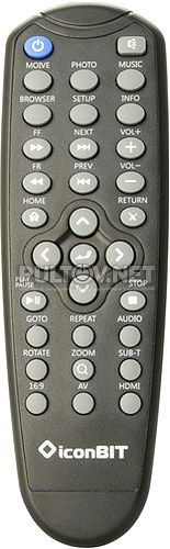 HDD80HDMI пульт для медиаплеера IconBit