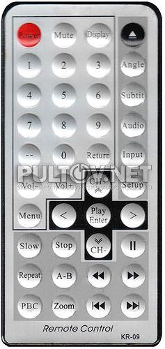 KR-09, Subini KR-09 пульт для портативного DVD-плеера Supra и Subini S-6095DT