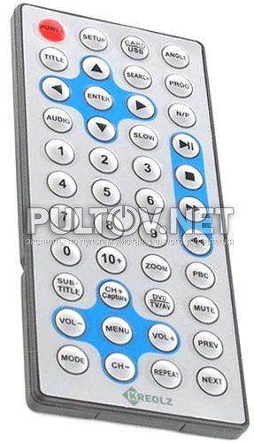 Kreolz DVPS 702 пульт для портативного DVD-плеера
