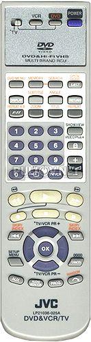 LP21036-025A пульт для DVD/VHS-плеера JVC HR-XV2EU