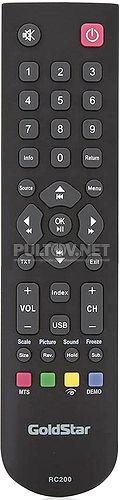 TF-LED15S18, Supra STV-LC16850WL, Hyundai RC2000C, GOLDSTAR RC200, Erisson 19LET21 пульт для телевизора