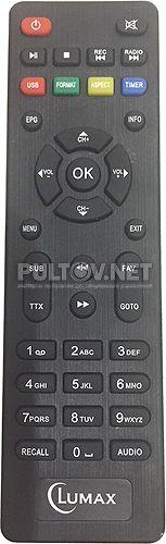 DV-2018HD пульт для DVB-T2-ресивера Lumax