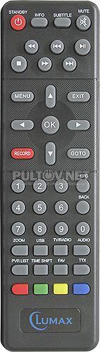 DVBT2-1000HD пульт для DVB-T2-ресивера Lumax