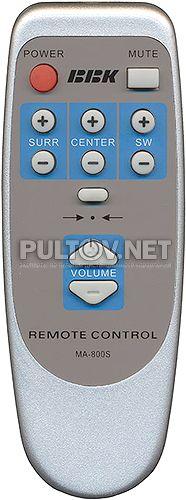 MA-800S ver.2, SP-550 ver 2.3a пульт для акустики BBK