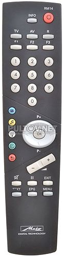 RM14 пульт для телевизора Metz Bristol 82TN95