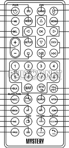 MMD-4002BSG пульт для автомагнитолы Mystery