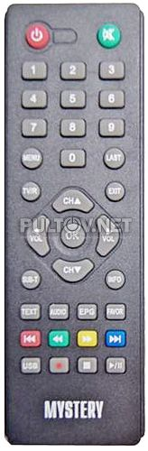MMP-70DT2 пульт для DVB-T1/2-ресивера цифрового эфирного телевидения MYSTERY
