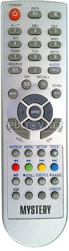 TVD34-M1-2 (STV-LC1914W, модель #0106) , Mystery MTV-1910LW пульт для телевизора с DVD
