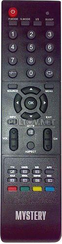 HOF09D500GPD6, HOF10A317GPD9 пульт для телевизора MYSTERY MTV-1605W (вариант 2), MTV-1905W, MTV-2205W (без DVD)