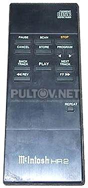 McIntosh HR2 пульт для CD-проигрывателя McIntosh MCD7000